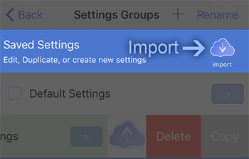 PG Booth importing photo booth app settings