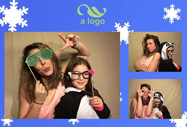 pg booth output photo strip with custom background